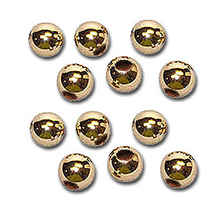 14K Gold Slide Spacer Beads 12 Quantity