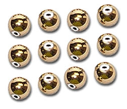 14K Gold Slide No-Slip Filled Spacer Beads 12 Quantity