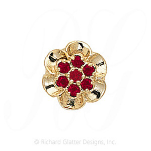 GS038 R - 14 Karat Gold Ruby Slide