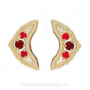 GS047-2 G - 14 Karat Gold Garnet Slide