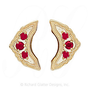 GS047-2 R - 14 Karat Gold Ruby Slide