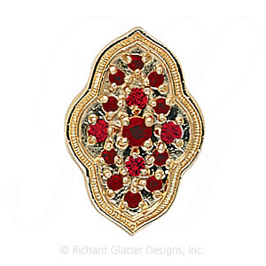 GS047 G - 14 Karat Gold Garnet Slide