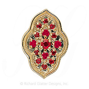GS047 R - 14 Karat Gold Ruby Slide