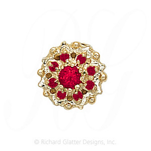 GS087 R - 14 Karat Gold Ruby Slide