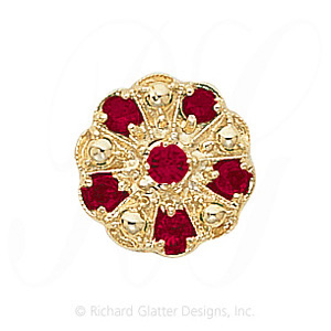 GS093 R - 14 Karat Gold Ruby Slide