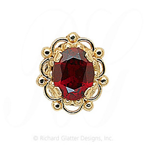 GS103 G - 14 Karat Gold Garnet Slide