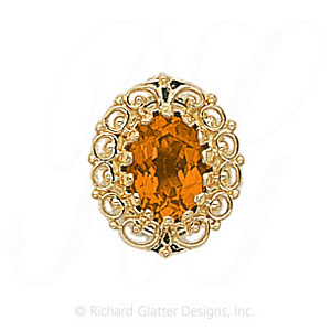 GS104 CIT - 14 Karat Gold Citrine Slide