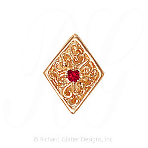GS106 R - 14 Karat Gold Ruby Slide
