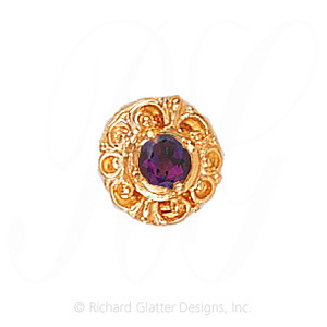 GS109 AMY - 14 Karat Gold Amethyst Slide