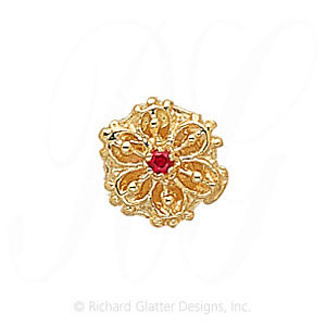 GS113 R - 14 Karat Gold Ruby Slide