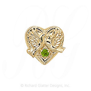 GS114 PD - 14 Karat Gold Peridot Slide