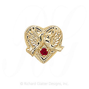 GS114 R - 14 Karat Gold Ruby Slide