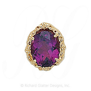 GS146 AMY - 14 Karat Gold Amethyst Slide