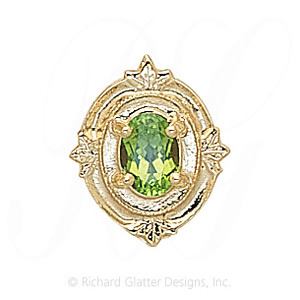 GS147 PD - 14 Karat Gold Peridot Slide