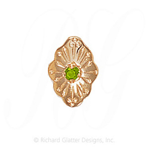GS179 PD - 14 Karat Gold Peridot Slide