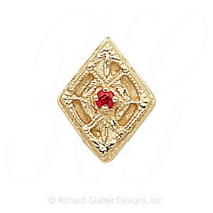 GS196 R - 14 Karat Gold Ruby Slide