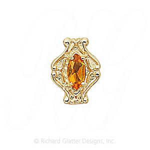 GS200 CIT - 14 Karat Gold Citrine Slide