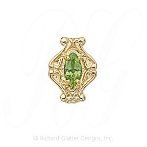 GS200 PD - 14 Karat Gold Peridot Slide