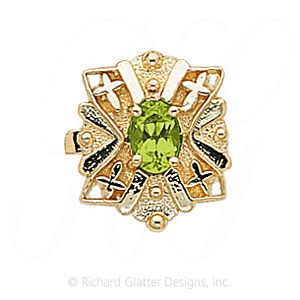 GS244 PD - 14 Karat Gold Peridot Slide