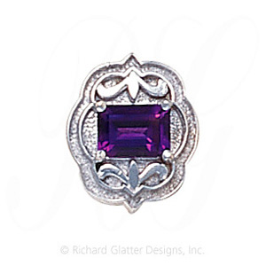 GS255 AMY - 14 Karat Gold Amethyst Slide