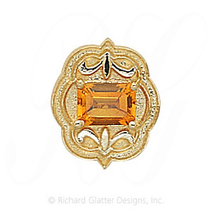 GS255 CIT - 14 Karat Gold Citrine Slide
