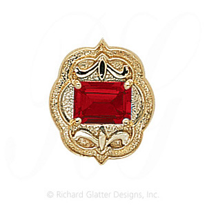 GS255 G - 14 Karat Gold Garnet Slide