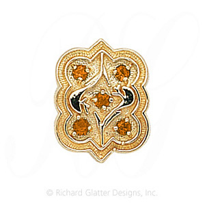 GS263 CIT - 14 Karat Gold Citrine Slide