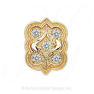 GS263 D - 14 Karat Gold Diamond Slide