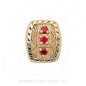 GS264 R - 14 Karat Gold Ruby Slide