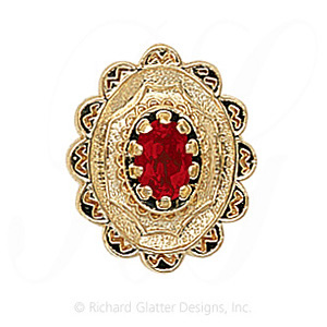 GS317 G - 14 Karat Gold Garnet Slide