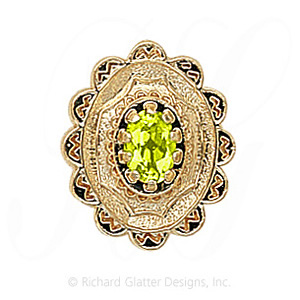 GS317 PD - 14 Karat Gold Peridot Slide