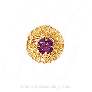 GS440 AMY - 14 Karat Gold Amethyst Slide