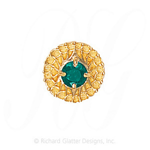 GS440 E - 14 Karat Gold Emerald Slide