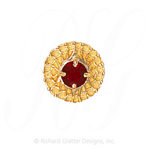 GS440 G - 14 Karat Gold Garnet Slide