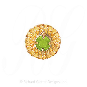 GS440 PD - 14 Karat Gold Peridot Slide