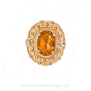 GS444 CIT - 14 Karat Gold Citrine Slide