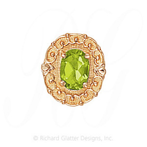 GS444 PD - 14 Karat Gold Peridot Slide
