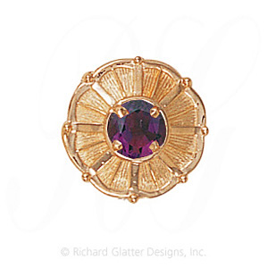 GS445 AMY - 14 Karat Gold Amethyst Slide