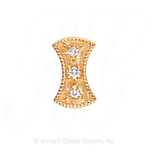 GS453 D - 14 Karat Gold Diamond Slide