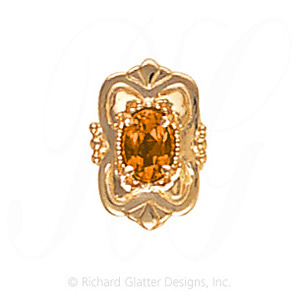 GS459 CIT - 14 Karat Gold Citrine Slide
