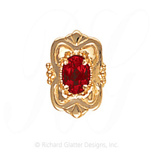 GS459 G - 14 Karat Gold Garnet Slide