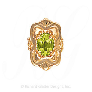 GS459 PD - 14 Karat Gold Peridot Slide