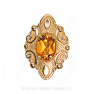 GS506 CIT - 14 Karat Gold Citrine Slide