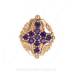 GS533 AMY - 14 Karat Gold Amethyst Slide