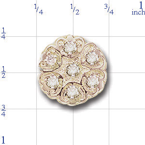 A2984 14K FLOWER SHAPED SLIDE WITH DIAMONDS