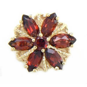 A3002 14K GARNETS IN A FLOWER DESIGN 2CT TW