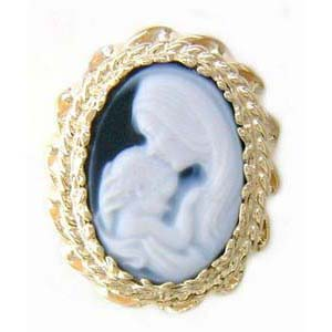 AC155 14K AGATE MOTHER & BABY SLIDE