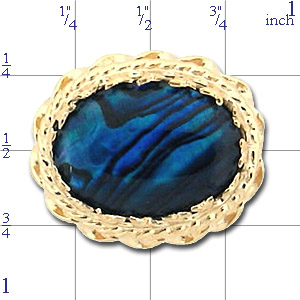 AC155 14K BLUE PAUA SLIDE
