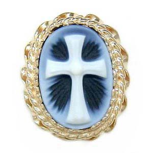 AC155 14K AGATE WITH CROSS SLIDE