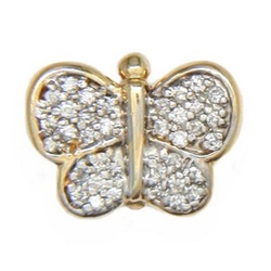 AC391 14K DIAMOND BUTTERFLY SLIDE